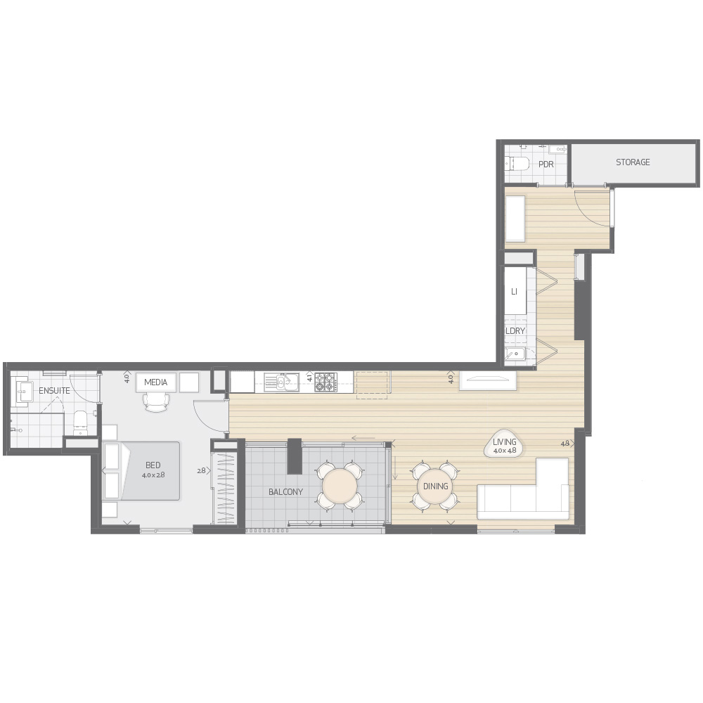 Individual Apartment Plan Type P1