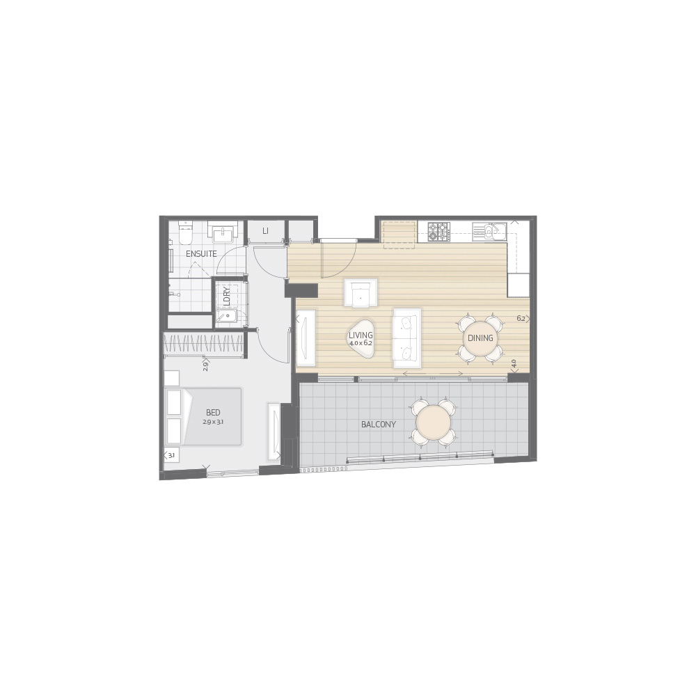 Individual Apartment Plan Type P3