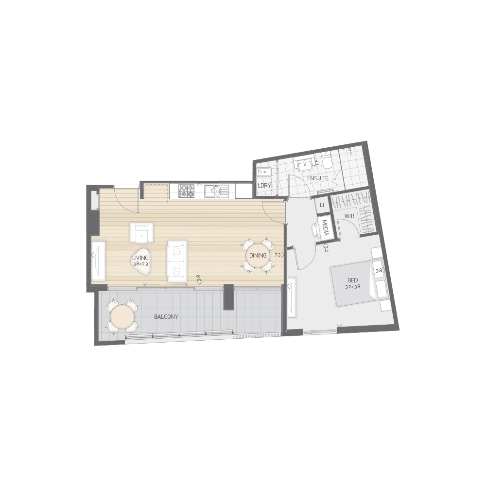Individual Apartment Plan Type P4