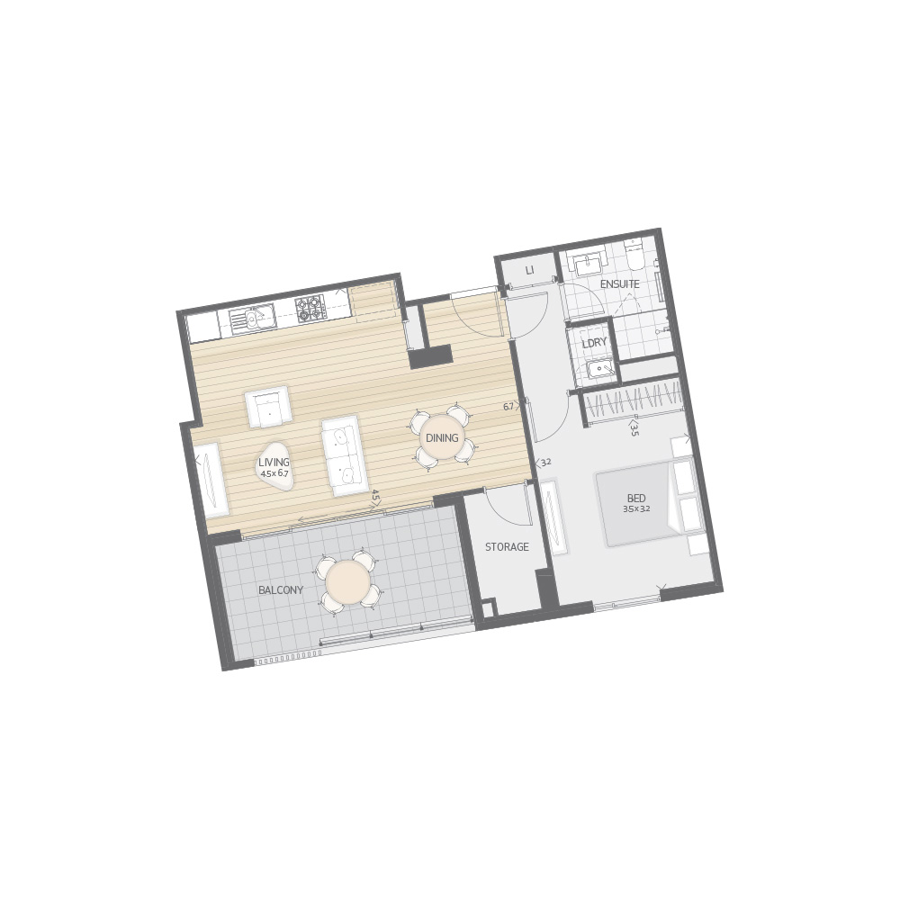Individual Apartment Plan Type P6