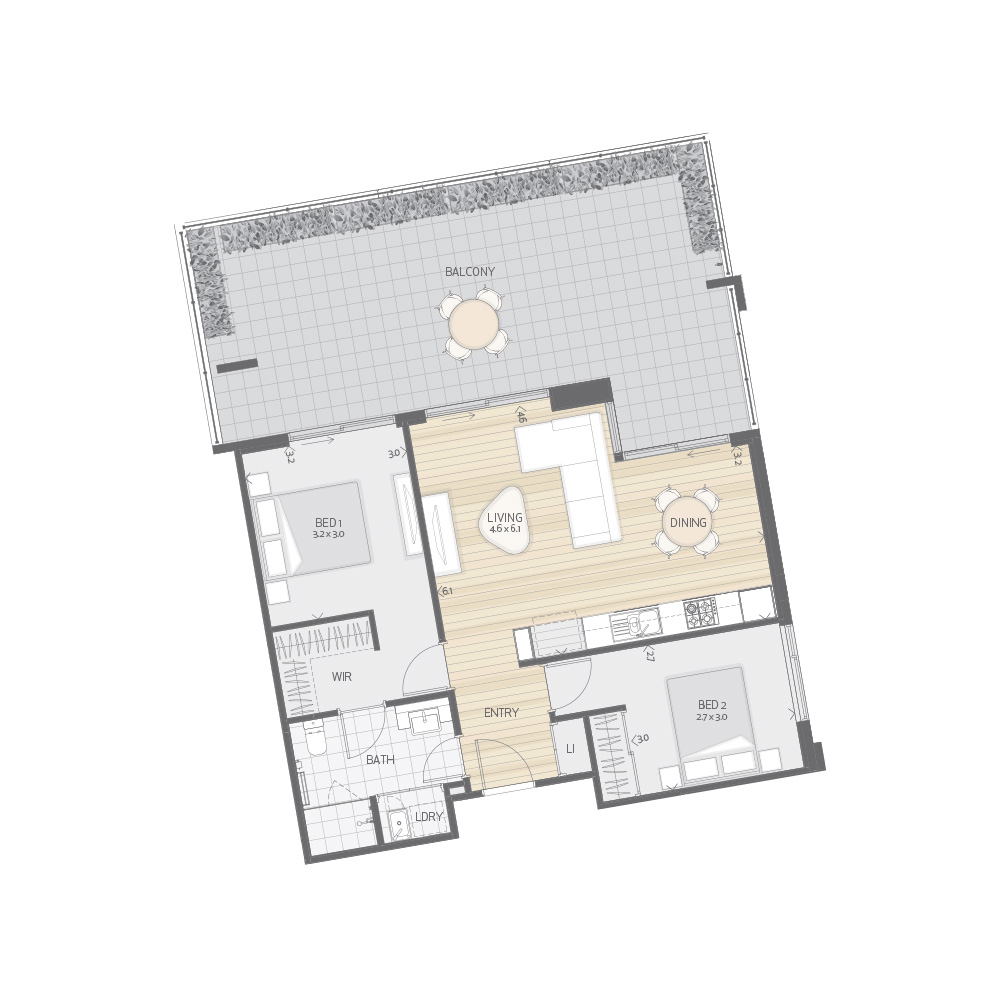 Individual Apartment Plan Type T11