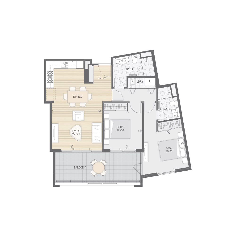 Individual Apartment Plan Type T7