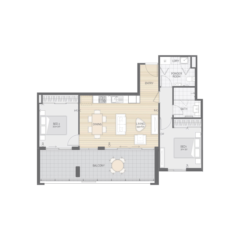 Individual Apartment Plan Type T8