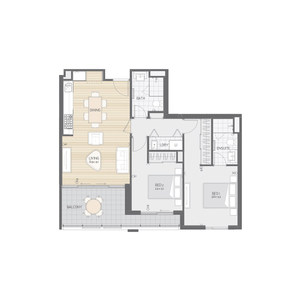 Individual Apartment Plan Type T9