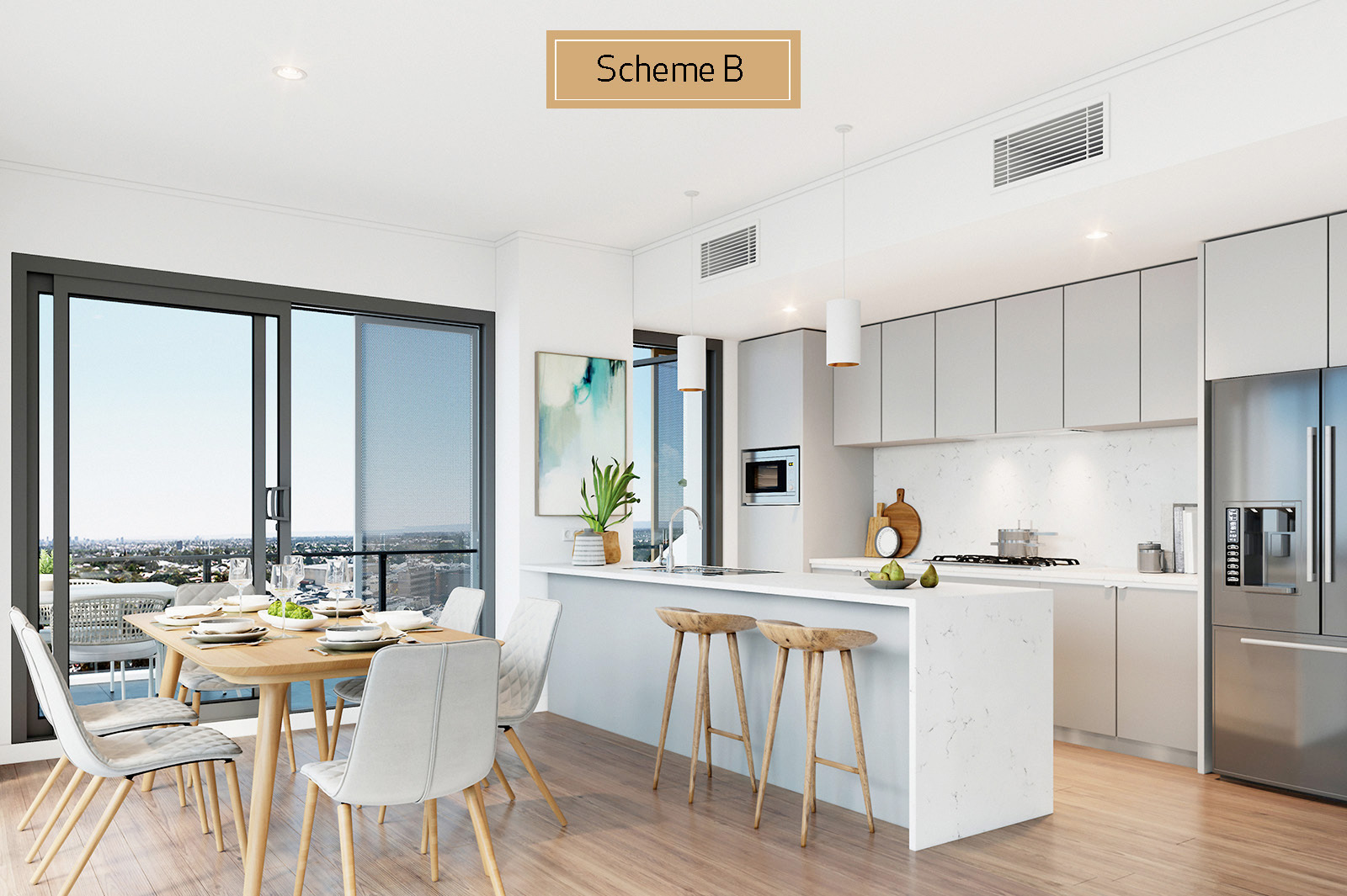 Apartment 113 - Kitchen Scheme A